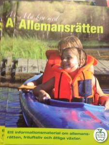 Broschyren om Allemansrätten utgiven av Naturvårdsverket.
