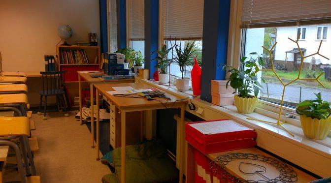 Nya klassen och nya klassrummet
