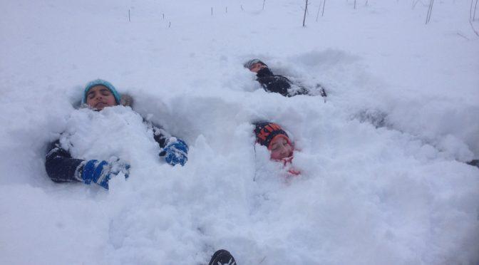 Ute- en idrottslektion i snön