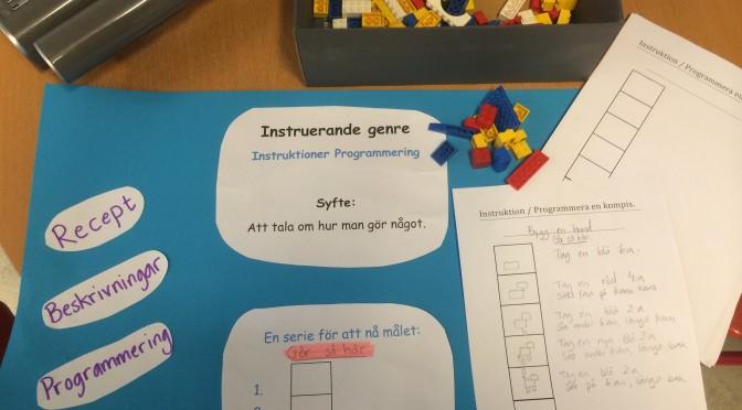 Instruerande genren, instruktioner – programmering.