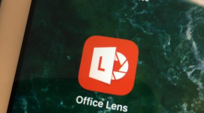Få text uppläst med Office lens