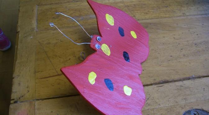 Tema fjärilar med koppling till slöjd, No och bild! :)