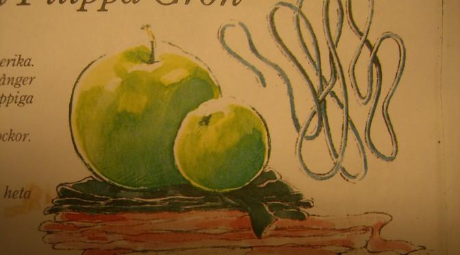Äppelgummor och gubbar! Har även tillverkat pennprydnader! :)