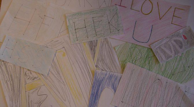 Designa en tavla och använda sig av matematiska beräkningar. Elev väljer motiv till sin tavla. Dokumentera allt i slöjdboken så man lär sig de ämnesspecifika slöjdorden! :)